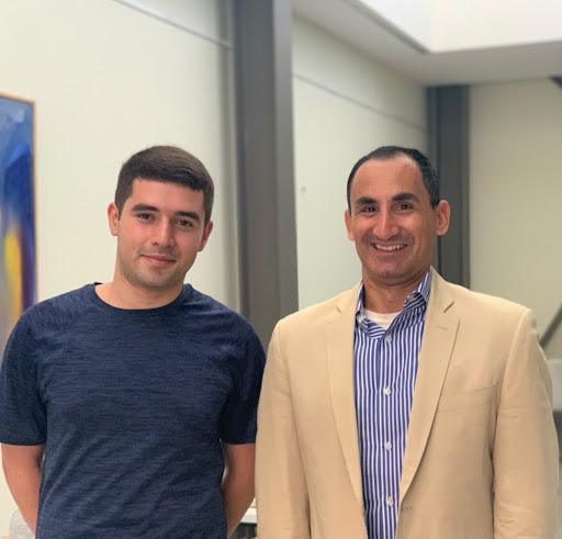 Dr. David Nanigian with his scholarship recipient Aram Hokhoyan